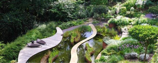 英国 威尔士-Estuary Garden, Wales
