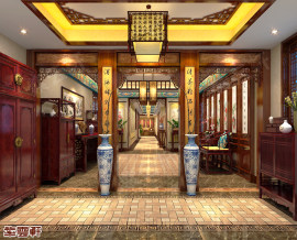天津市平层中式装修 醉心之美
