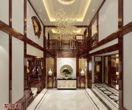 中式紫云轩传统豪宅装饰效果图