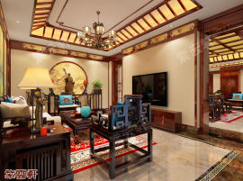 中式传统古典豪宅装修设计