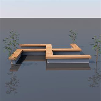 创意座椅长凳景观模型