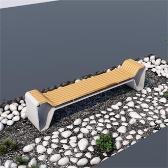 户外座椅长凳景观模型