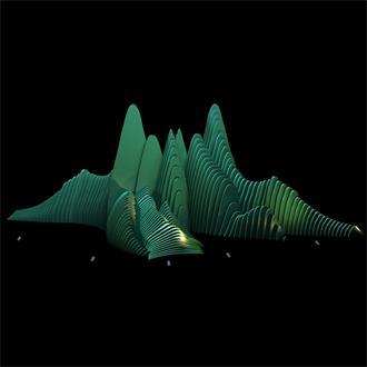假山石林景观设计模型