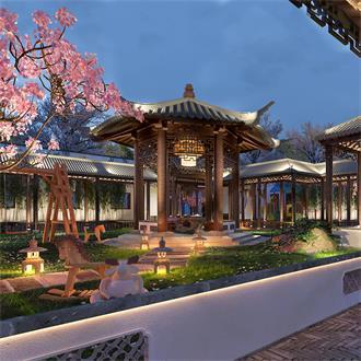 庭院花园景观别墅设计