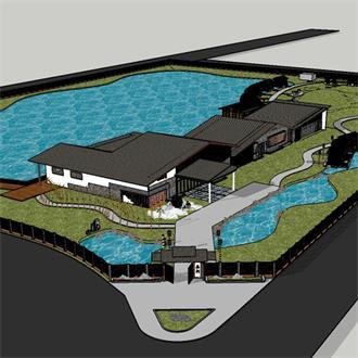 农业建筑模型素材设计