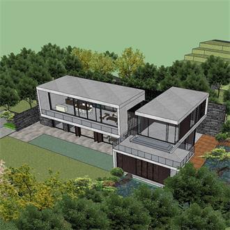 居住建筑模型素材设计