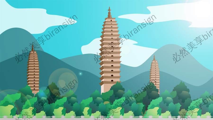 古风  中国风背景海报