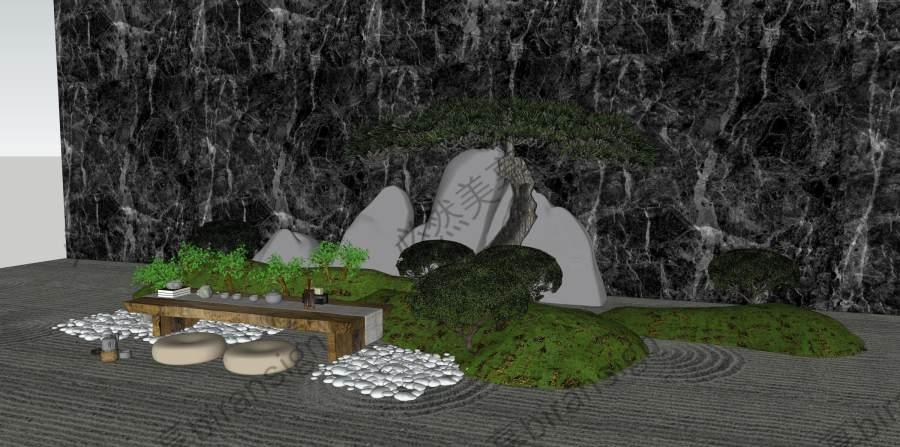 禅意庭院雕塑小品