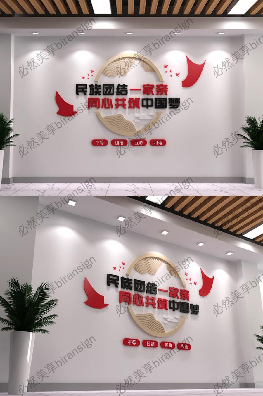 民族团结党建文化墙