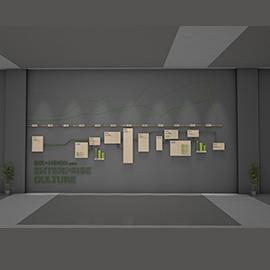 金融中心创意企业文化墙设计