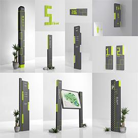 商业地产必备导示系统标识设计
