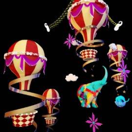 商场热气球吊饰美陈dp 商场开业美陈dp 亮化中庭吊饰 马戏团热气球大象美陈dp 开业美陈
