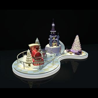 圣诞节美陈设计模型
