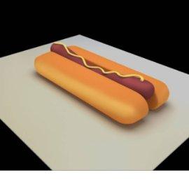 原创美食系列坐凳-热狗