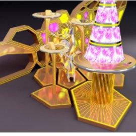 科技感机械拱门 科技圣诞 未来主题圣诞美陈dp 圣诞树 麋鹿