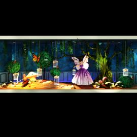 梦幻森林 精灵橱窗 精灵女神 蘑菇 柳树 树球