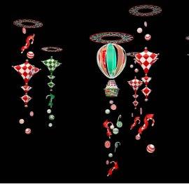 热气球吊饰 糖果吊饰 七彩吊饰 商场吊饰 商场美陈