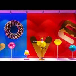 糖果橱窗 甜甜圈 时尚橱窗 棒棒糖 商场橱窗