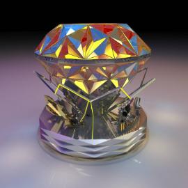 钻石美陈 户外DP 水晶钻石 商场美陈 概念美陈