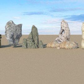 各类石头组合 景观石头 石头假山 中式石头