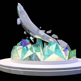 冰山鲸鱼美陈dp 雕塑 北极美陈 夏季美陈 冬季美陈 海洋美陈