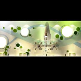 概念科技感 绿植橱窗 波点橱窗 开关器 商场橱窗