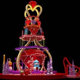 爱心圣诞树 美陈大DP 商场广场美陈 雪人 霓虹灯美陈 时尚元素美陈圣诞树 圣诞树