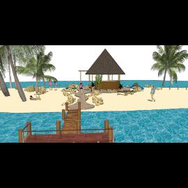 东南亚沙滩景观