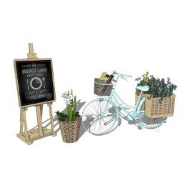 婚礼婚庆景观 自行车小景 花车 花箱 小景观 店面景观 花 植物