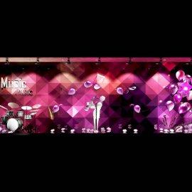 音乐氛围橱窗 萨斯风 紫色氛围 气球氛围 商场橱窗