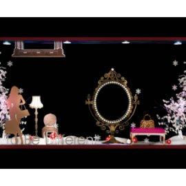 家居橱窗 女性奢侈品橱窗 冬季橱窗 圣诞橱窗美陈 镜子模型