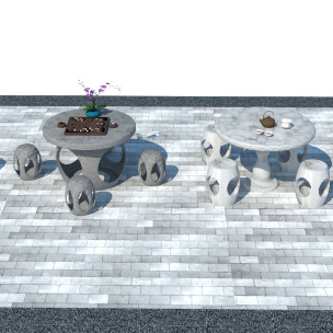 中式石台 中式茶台 中式石桌 石凳