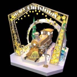 圣诞火车头美陈dp 圣诞树 亮化美陈 圣诞门头 星星美陈dp 礼物盒