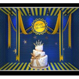 蛋糕美陈 蛋糕橱窗 丝带橱窗  商场橱窗 蓝白波点 黄色斑马线橱窗