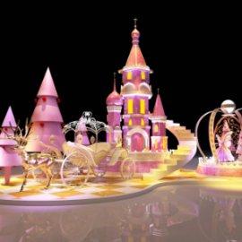 精灵城堡美陈dp 花仙子美陈dp 童话美陈 圣诞美陈 圣诞树 城堡美陈 音乐盒美陈 南瓜车麋鹿