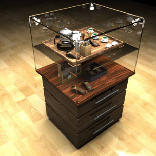 茶具展柜设计