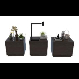 室内床头柜装饰品3d模型