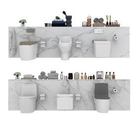 现代卫浴马桶模型