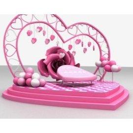 情人节气球玫瑰爱心美陈设计