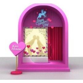 KissHouse情人节拍照打卡房间美陈装置