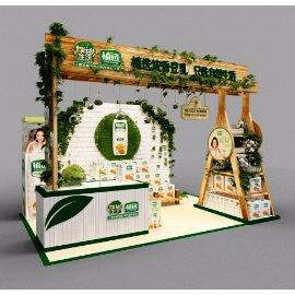 绿色植物饮料饮品展台展厅设计