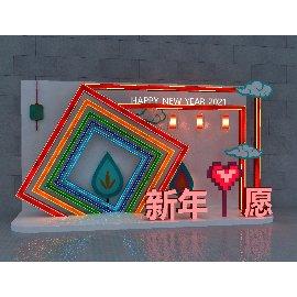 2021春节新年心愿彩灯美陈装饰