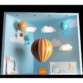 UP2021天空热气球形象美陈设计