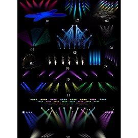 12个PSD晚会舞台灯光特效合集