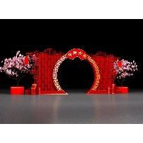 午年大吉新年春节美陈中式拱门