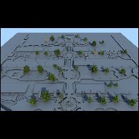 广场树木绿植俯视鸟瞰素材