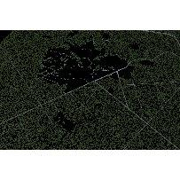 大面积森林树木鸟瞰俯视素材