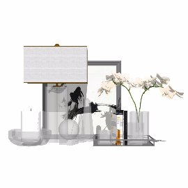 玻璃花瓶装饰画摆件su装饰品模型