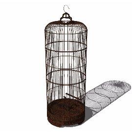 中式古典鸟笼su模型
