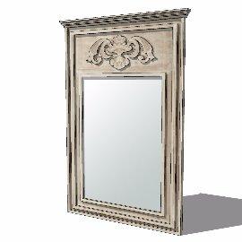 欧式落地化妆镜镜子su模型
